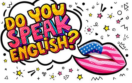 Do you speak English word bubble