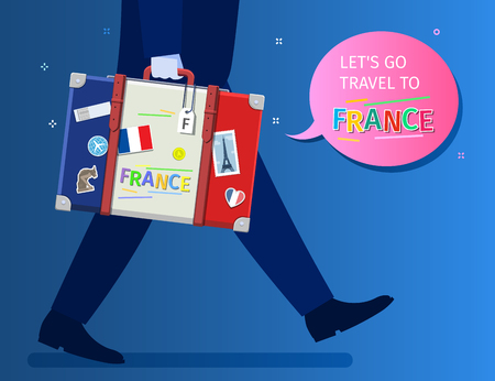 Concept of travel or studying French. Vectores