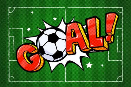 Goal lettering in pop art style