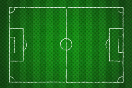 Football field or soccer field background. Vector green court. Иллюстрация