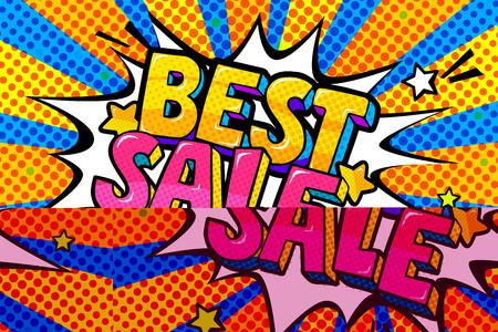 Best Sale Message in pop art style