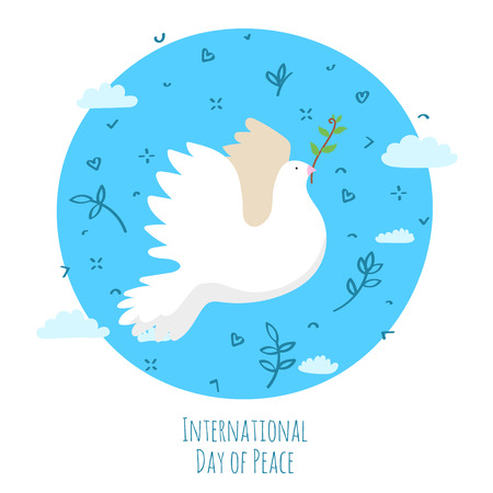International Day of Peace. The Earth with dove