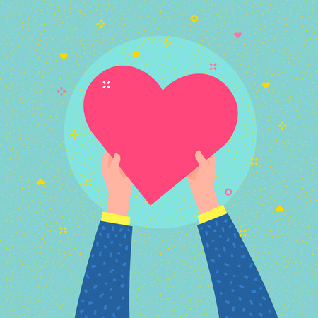Charity concept. Hands are holding big heart symbol. Stock Photo - 118849202