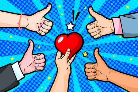 Concept of charity and donation. Give and share your love to people.