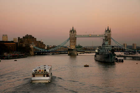 Tower Bridge in the evening glow Stock Photo - 9873821