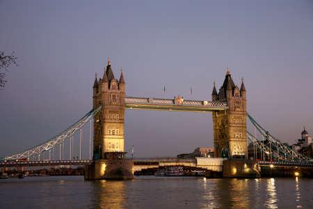 Tower Bridge in the evening glow Stock Photo - 9873803