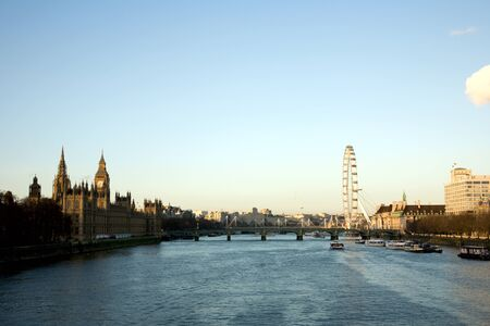 seen: Westminster and London Eye seen from Lambeth Bridge