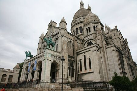 Paris, France, September 24, 2010 - There are some tourist walking around Basilica of the Sacre C��ur after midday shower.