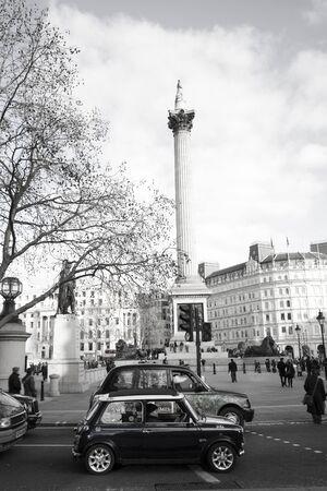 London, UK - January 30, 2011: Old mini car driver Stock Photo - 10052087
