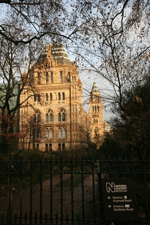 London, UK - January 07, 2011: Outsid view of Natural History Museum. This Museum is one of the most favorite museum for children seeing Dinosaur display.