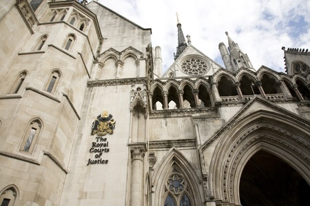 Outside view of Royal Courts of Justice in London photo