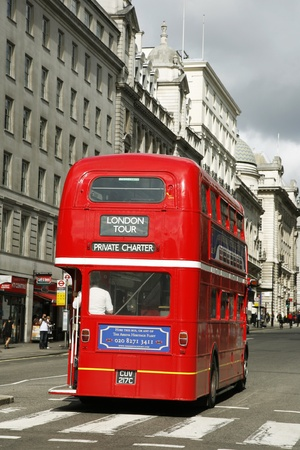 route master: London, UK - August 28, 2011: Route Master Bus for hiring in the street of London. Route Master Bus is the most iconic symbol of London as well as London Editorial