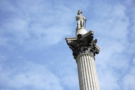 trafalgar: Nelsons Column stands in Trafalgar Square to commemorate Admiral Nelson
