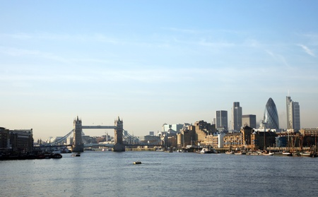 movable: Tower Bridge in the bright sunny day