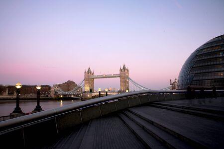 evening glow: Tower Bridge in the evening glow Stock Photo