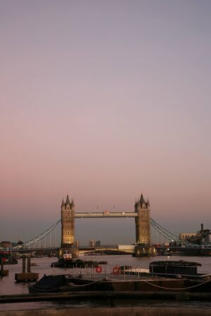 Tower Bridge in the evening glow  photo