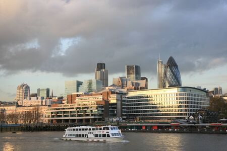 City of London Skyline seen from Tower Bridge