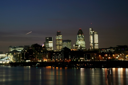place of interest: London Night View seen from North Bank of Tower Bridge