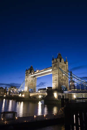 draw bridge: Thames River Night View with Tower Bridge
