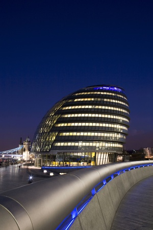 City Hall on the South Bank of Thames River, London UK photo