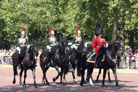 cavalry: London, UK - June 17, 2006: Household Cavalry at Trooping the colour ceremony, also known as the Queens Birthday Parade