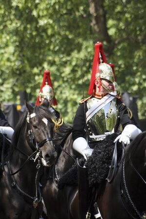 London, UK - June 17, 2006: Household Cavalry at Trooping the colour ceremony, also known as the Queen's Birthday Parade Stock Photo - 10591840
