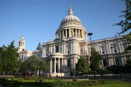 St Paul's Cathedral locates at the top of Ludgate Hill in the City of London Stock Photo - 10644048