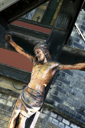 Statue of Christ at a local church  photo
