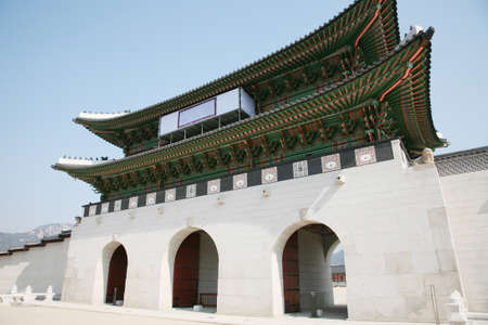 Kwanghwa Gate is the main gate of Gyeongbok Palace which was the main palace of Joseon Dynasty    photo