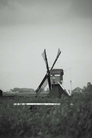 north holland: Windmills of Zaanse Schans, North Holland. Zaanse Schans is famous for its collection of well-preserved historic windmills and houses