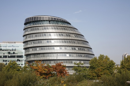 City Hall on the South Bank of Thames River, London UK