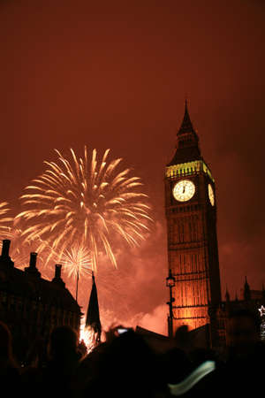 2011, Fireworks over Big Ben at midnight