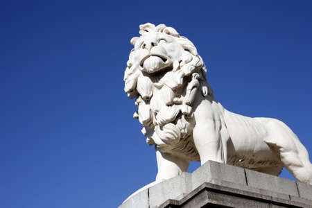 Coade Stone Lion seen from Westminster Bridge photo