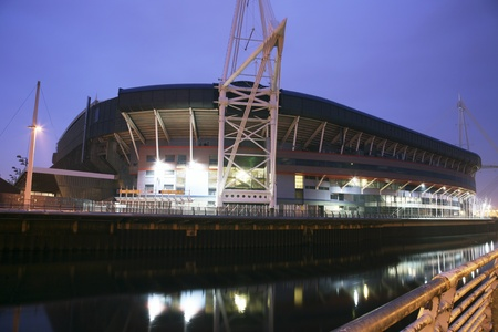 millennium: Cardiff, UK - March 29, 2011: Outside view of the Cardiffs Millennium Stadium. The stadium opened in 1999 and now it is the home of the Wales national rugby team but also host to many other large scale events.