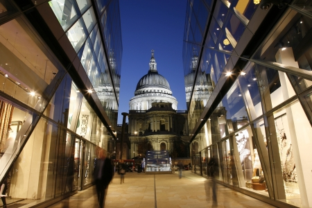 St Pauls Cathedral locates at the top of Ludgate Hill in the City of London photo