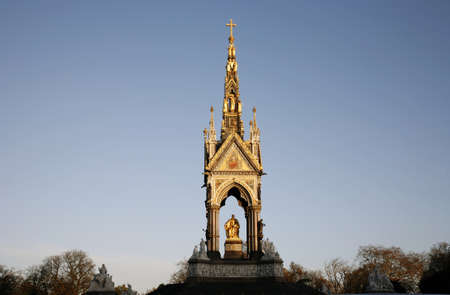 The Albert memorial in Hyde park of London photo