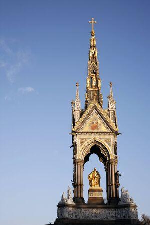 The Albert memorial in Hyde park of London photo
