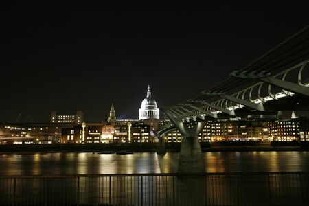 St Paul's Cathedral locates at the top of Ludgate Hill in the City of London photo