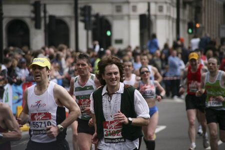 majors: London, UK - April 25, 2010: Runners in the London Marathon. The London Marathon is next to New York, Berlin, Chicago and Boston to the World Marathon Majors, the Champions League in the marathon.   Editorial