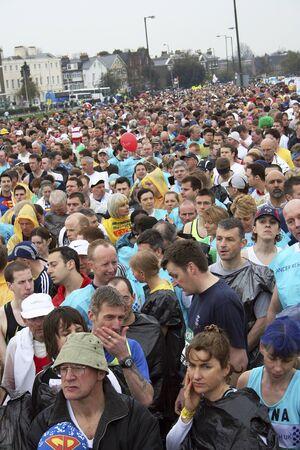 majors: London, UK - April 23, 2006: Runners in the London Marathon. The London Marathon is next to New York, Berlin, Chicago and Boston to the World Marathon Majors, the Champions League in the marathon.