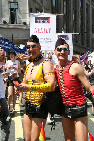 London, UK - July 01, 2006: People take part in the London's Gay Pride parade to support gay rights.   Stock Photo - 11652245