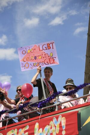 London, UK - July 03, 2010: People take part in the London's Gay Pride parade to support gay rights.   Stock Photo - 11652285