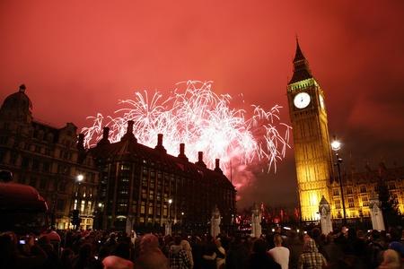 2012, Fireworks over Big Ben at midnight Editorial