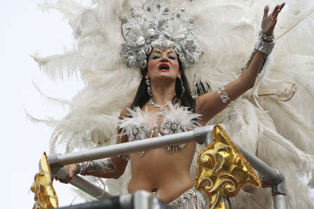 London, UK - August 31, 2009: Performers take part in the second day of Notting Hill Carnival, largest in Europe. Carnival takes place over two days in every August.