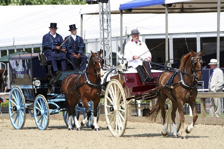 Windsor, UK - May 11, 2006: Performers take part at Royal Windsor Horse Show, largest outdoor equestrian Show in the UK. The event has been running for over 65 years and takes place in the Queen¡¯s private grounds at Windsor Castle.