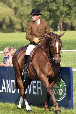 Windsor, UK - May 11, 2006: Performers take part at Royal Windsor Horse Show, largest outdoor equestrian Show in the UK. The event has been running for over 65 years and takes place in the Queen��s private grounds at Windsor Castle.