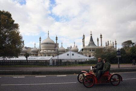 London, UK - November 07, 2010: London to Brighton Veteran Car Run participants arriving in Brighton, event starts at 7:00am at the Serpentine Road in Hyde Park, London.  Stock Photo - 12001447