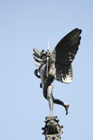 eros: Eros statue  in Picadilly Circus Stock Photo