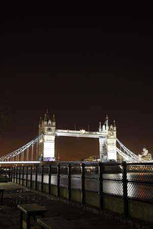Tower Bridge, in Tower Hamlet,  part of London, at dusk Stock Photo - 12182559