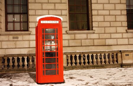 London Red Telephone Booth at dawn photo